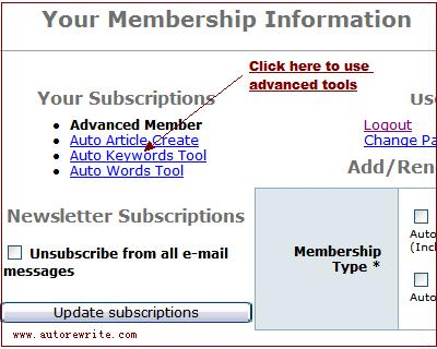 advanced member tools